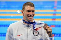 """<p>Biography: 26 years old</p> <p>Event: Men's 100m backstroke (swimming)</p> <p>Quote: """"It's definitely a mix of emotions. Being third in the world is no shame but obviously you want to go out there and win. That was the best I had this day. Hats off to the Russian guys.""""</p>"""
