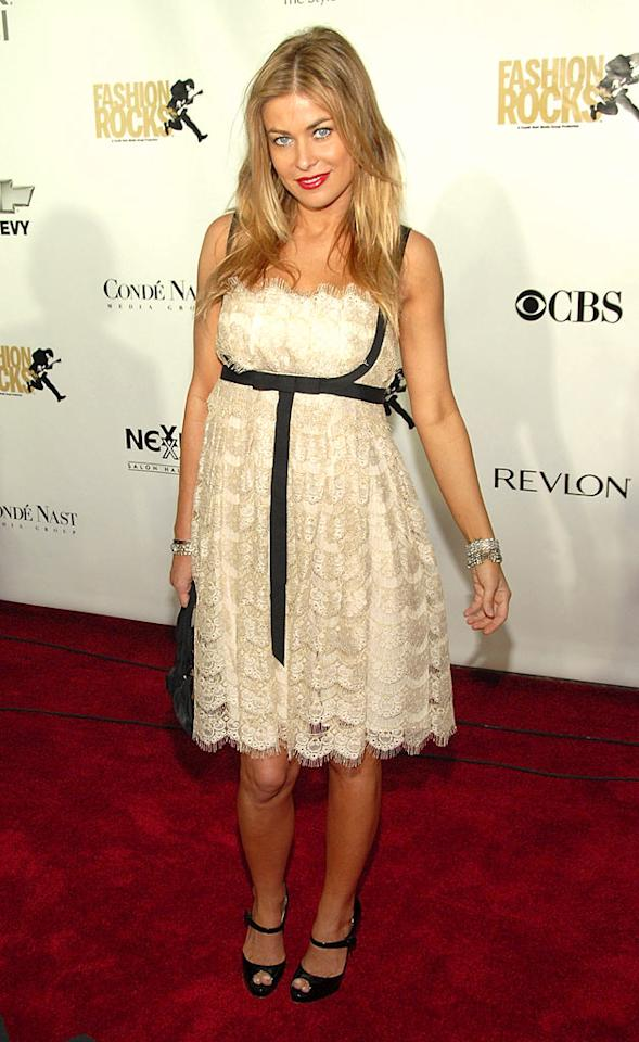 "Carmen Electra looks like a little girl in her lacey frock. Kevin Mazur/<a href=""http://www.wireimage.com"" target=""new"">WireImage.com</a> - September 6, 2007"