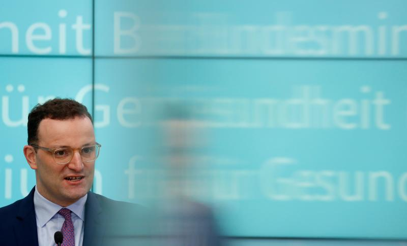 German Health Minister Jens Spahn speaks during a press conference at the Health Ministry in Berlin on March 23, 2020, focusing on two draft bills on helping the healthcare system cope with the financial impact of new coronavirus COVID-19. (Photo by Odd ANDERSEN / AFP) (Photo by ODD ANDERSEN/AFP via Getty Images)