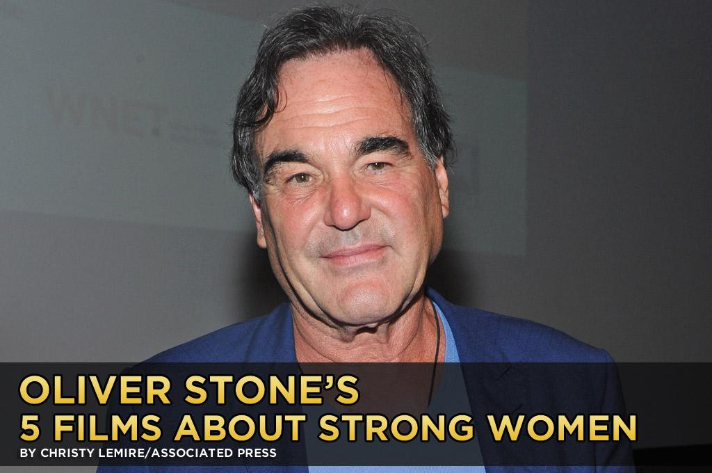 "Some of Oliver Stone's best-known and most-celebrated films — including ""<a href=""http://movies.yahoo.com/movie/platoon/"">Platoon</a>,"" ''<a href=""http://movies.yahoo.com/movie/wall-street/"">Wall Street</a>,"" and ""<a href=""http://movies.yahoo.com/movie/born-on-the-fourth-of-july/"">Born on the Fourth of July</a>"" — focus on complicated men. But his latest, the violent drug thriller ""<a href=""http://movies.yahoo.com/movie/savages-2012/"">Savages</a>,"" has a couple of formidable females at its center: Salma Hayek as the stylish, ruthless leader of a Mexican drug cartel and Blake Lively as an Orange County princess who must find a resourcefulness she never knew she had.<br><br>In that spirit, Stone was kind enough to pick five of his favorite examples of strong women throughout film history. Here he is, in his own words:<br><br>To begin with, that is quite a reduction from the dozens of screen roles that are still living in my memory, including the evil queen/witch in the original ""Snow White and the Seven Dwarfs"" (1937) that truly affected me. I thought Charlize Theron was terrific in the latest version and chilled me to the bone. Nor can I forget, for that matter, Cruella De Vil.<br><br>In these selections, I'm going to exclude every movie that Meryl Streep has ever done, because whatever she does rivets my attention."