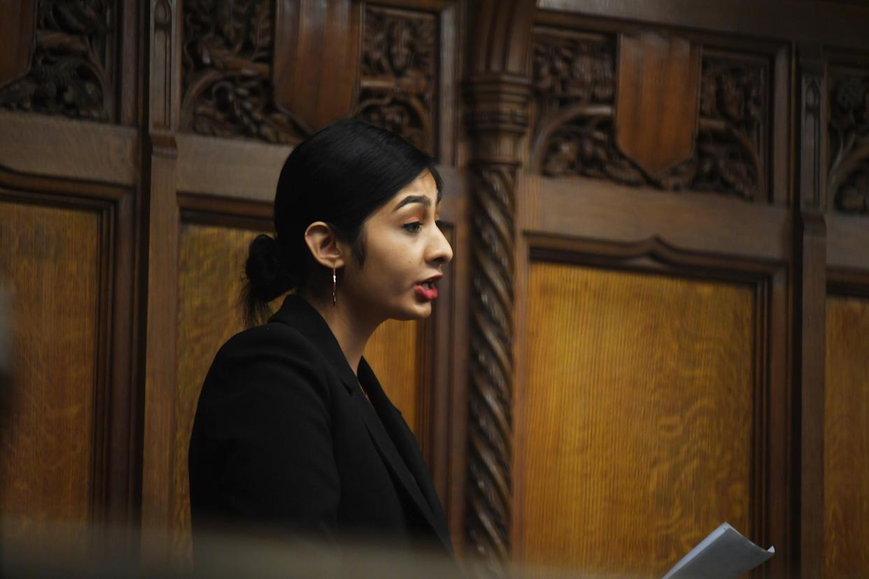 Labour Party MP Zarah Sultana in the House of Commons. (PA)