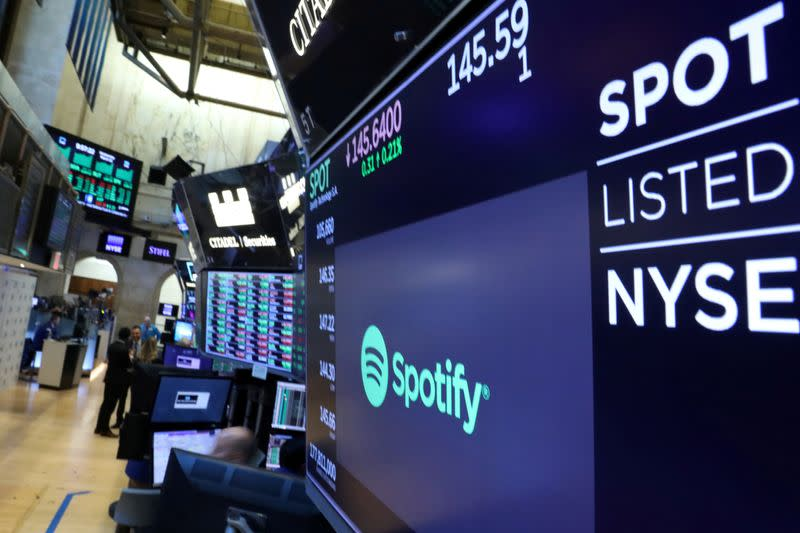 Spotify falls after Apple launches new services bundle
