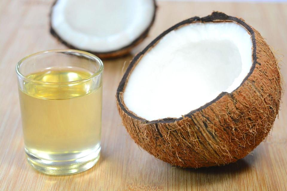 "<p>Coconut oil is a good option for sautéing vegetables and even light pan-frying. It's not ideal for deep-frying though: Coconut oil has a smoke point of around 350˚F to 400˚F. Keep in mind that refined coconut oil generally has a higher smoke point than unrefined coconut oil.</p><p><a class=""link rapid-noclick-resp"" href=""https://www.amazon.com/s?k=spatulas&i=garden&ref=nb_sb_noss_1&tag=syn-yahoo-20&ascsubtag=%5Bartid%7C2164.g.35886374%5Bsrc%7Cyahoo-us"" rel=""nofollow noopener"" target=""_blank"" data-ylk=""slk:SHOP SPATULAS"">SHOP SPATULAS</a></p>"
