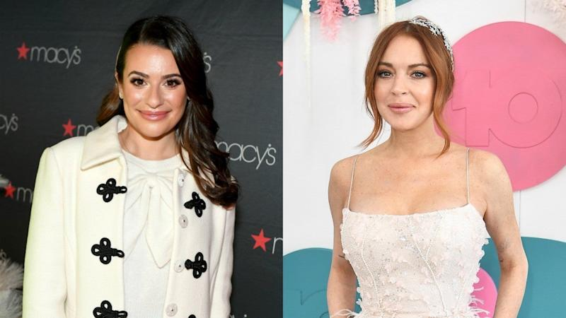 Lea Michele Has the Best Reaction to Lindsay Lohan's Shady Comment
