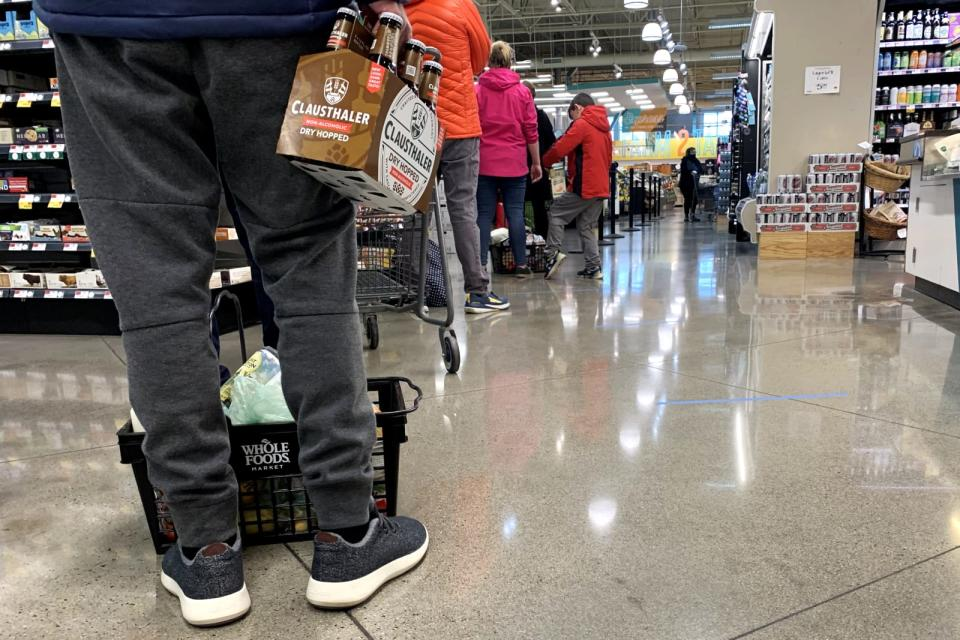 Online grocery deliveries are facing an unprecedented ...