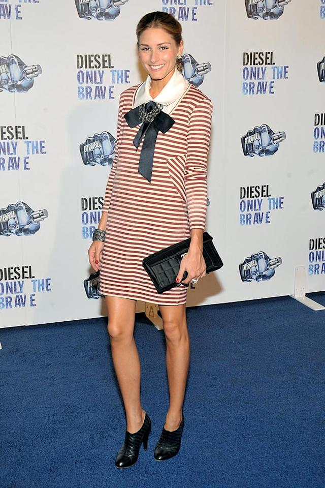 """The City's"" Olivia Palermo is way too young and fabulous to be wearing such a matronly sailor-inspired ensemble. Jamie McCarthy/<a href=""http://www.wireimage.com"" target=""new"">WireImage.com</a> - August 26, 2009"