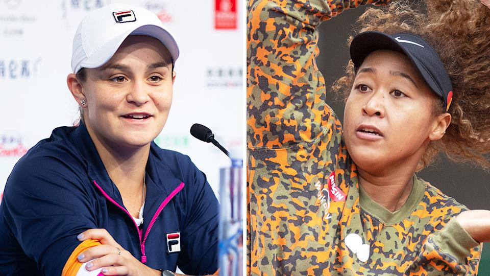 Ash Barty says she understands Naomi Osaka's stance on press conferences, but says she's never had a problem with the media, win or lose. Pictures: Getty Images