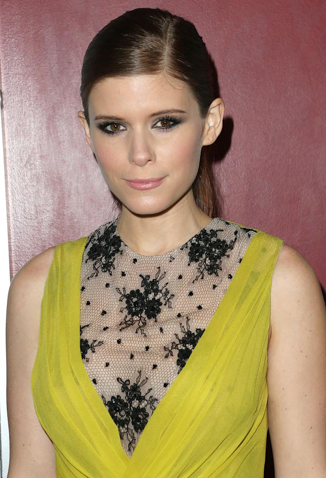 """HOLLYWOOD, CA - NOVEMBER 29:  Actress Kate Mara attends the premiere of Magnolia Pictures' """"Deadfall"""" at the  ArcLight Cinemas on November 29, 2012 in Hollywood, California.  (Photo by Frederick M. Brown/Getty Images)"""