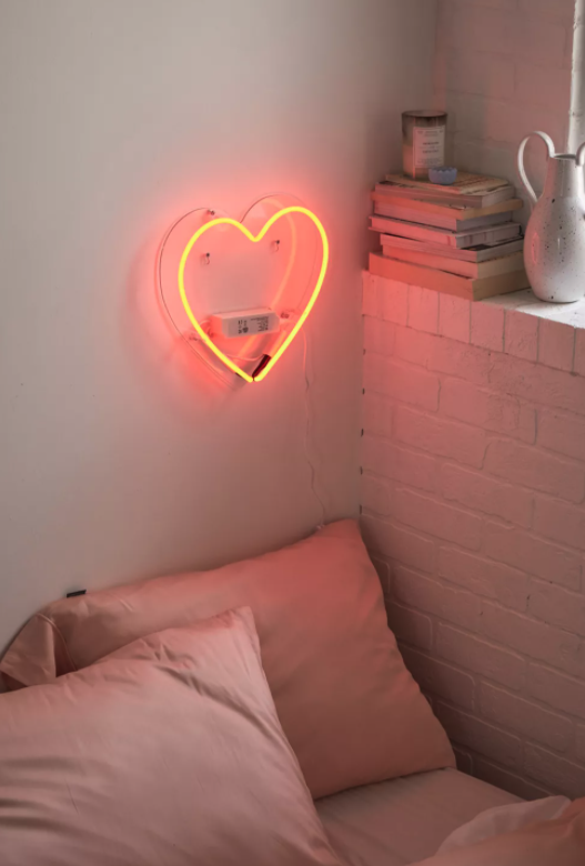 Heart Neon Sign. Image via Urban Outfitters.