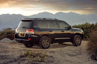 This photo from Toyota shows the 2021 Land Cruiser, a rugged three-row SUV with impressive off-road capabilities. (Sean C. Rice/Toyota Motor Sales U.S.A. via AP)