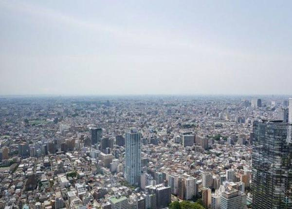 ▲Landscape of Otto, Chichibu, Kofu and other areas, beyond the Tokyo high-rise buildings