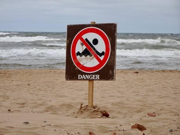 Beachgoers are being warned to stay out of the water Thursday. (Jane Robertson/CBC - image credit)