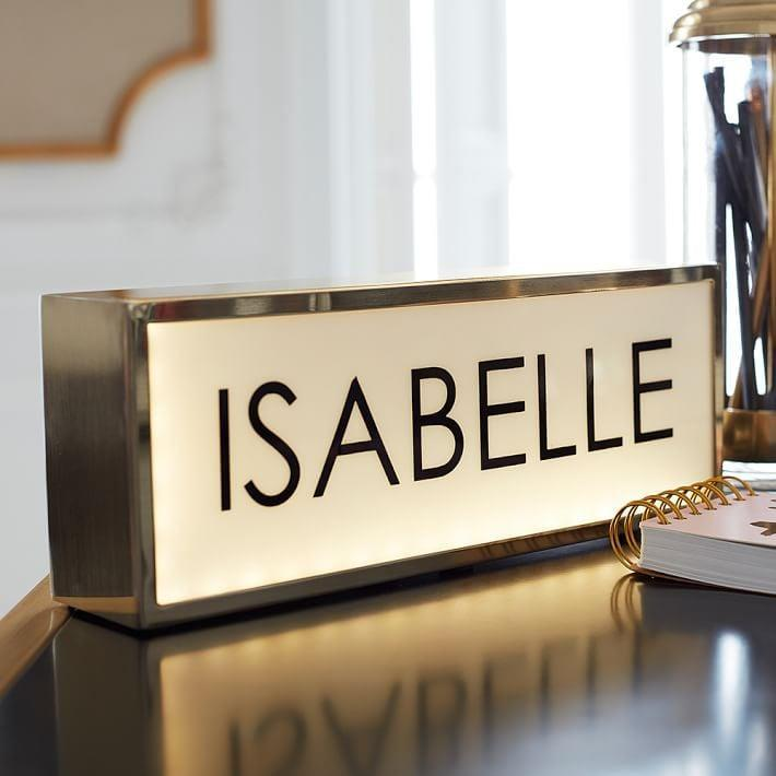 "<p>Make their desk feel customized with this <a rel=""nofollow noopener"" href=""https://www.popsugar.com/buy/Personalized%20Light%20Box-285225?p_name=Personalized%20Light%20Box&retailer=pbteen.com&price=129&evar1=moms%3Aus&evar9=42686901&evar98=https%3A%2F%2Fwww.popsugar.com%2Fmoms%2Fphoto-gallery%2F42686901%2Fimage%2F42686912%2FPersonalized-Light-Box&list1=holiday%2Cgift%20guide%2Cparenting%20gift%20guide%2Cgifts%20for%20kids%2Ckid%20shopping%2Ctweens%20and%20teens%2Cgifts%20for%20teens&prop13=mobile&pdata=1"" target=""_blank"" data-ylk=""slk:Personalized Light Box"" class=""link rapid-noclick-resp"">Personalized Light Box</a> ($129).</p>"