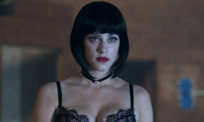 Betty shows off her dark side with a dark wig, naturally. (Photo: The CW)