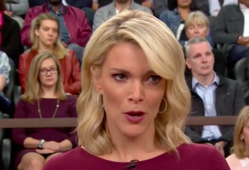 NBC Today Show host Megyn Kelly telling Tom Brokaw that they need to wrap up. (NBC)