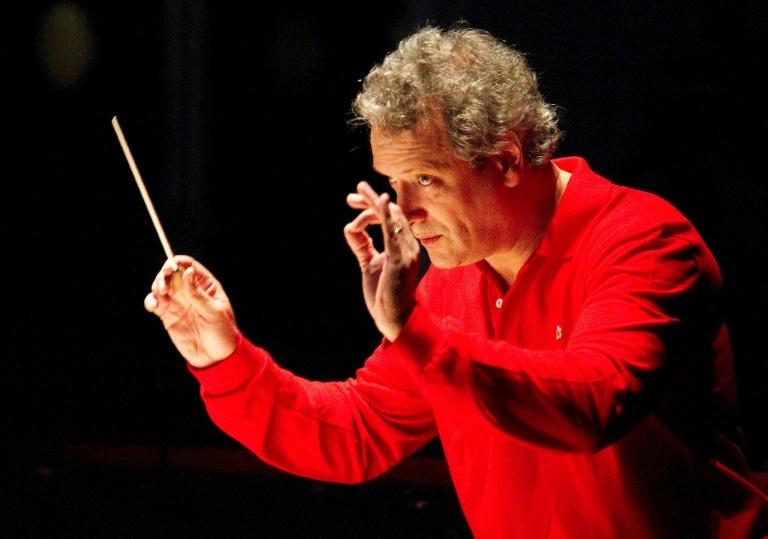 French conductor Louis Langree, pictured in May 2012, has led the Cincinnati orchestra for four seasons with his innovative free outdoor concerts known as Luminocity, where the music is paired with a light show