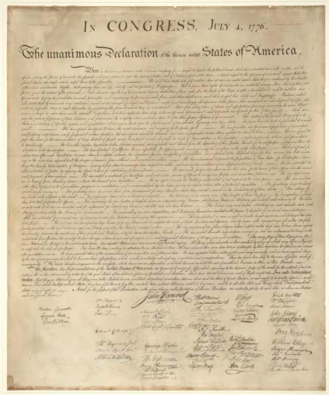David Rubenstein has purchased several copies of The Declaration of Independence (produced in 1823) and places them on public display at prominent institutions including the National Archives and the Smithsonian Institution.