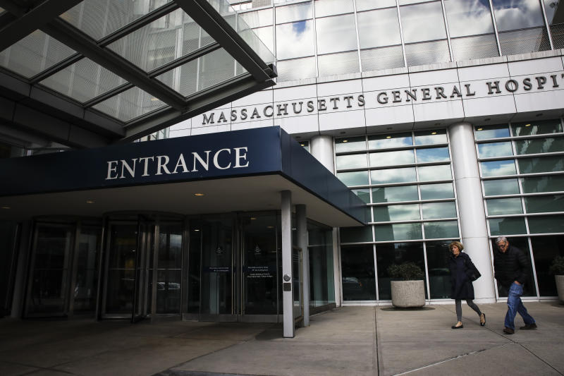 Boston hospitals, including Massachusetts General Hospital, pictured on Feb. 27, 2020, are training workers and readying rooms and beds in preparation for the likelihood of the spread of the new coronavirus including the possibility of a sudden spike in sick patients. (Erin Clark/The Boston Globe via Getty Images)