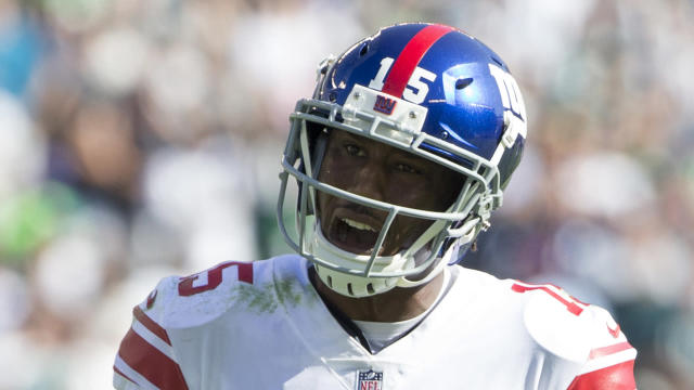 The New York Giants have released 34-year-old wide receiver Brandon Marshall.