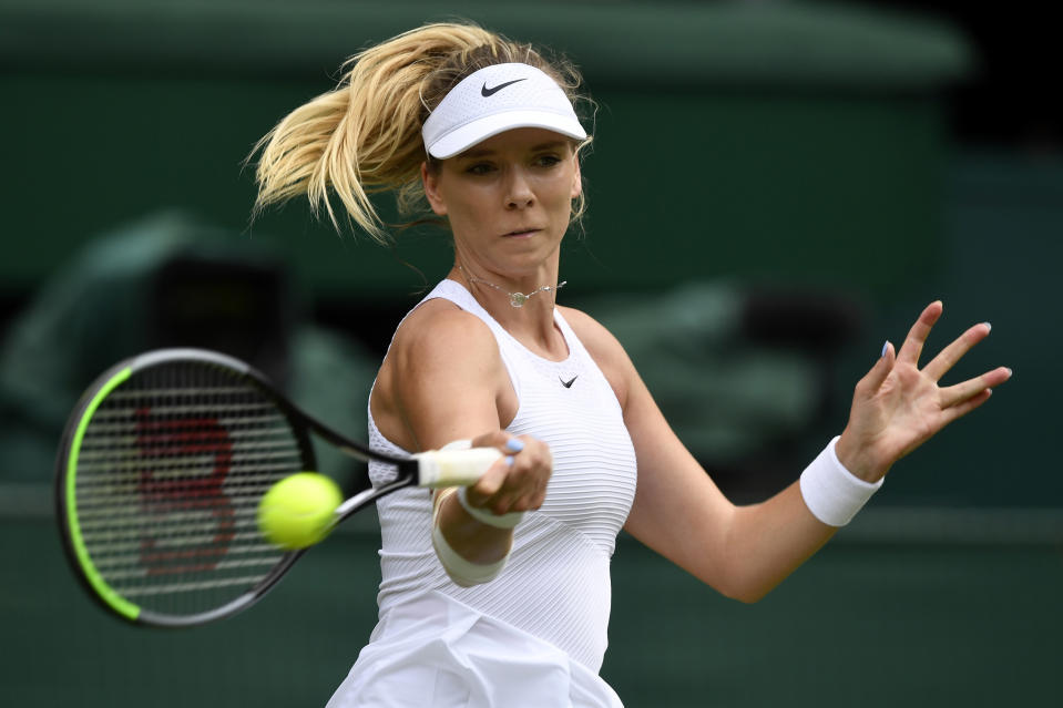 Leicester ace Boulter, 24, was unable to seal the win by a British woman in a Grand Sam since Johanna Konta stunned No.2 seed Simona Halep at Wimbledon four years ago