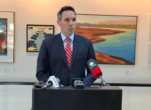 Yukon Party Leader Currie Dixon said Thursday that Liberal Leader Sandy Silver should recall the Legislative Assembly and table a budget, preferably by the end of the month. (Mike Rudyk/CBC - image credit)