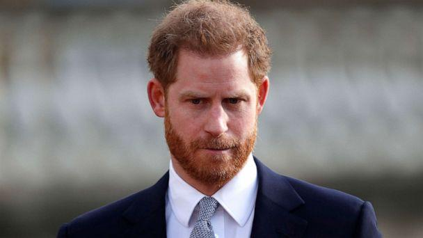PHOTO: In this Jan. 16, 2020, file photo, Britain's Prince Harry, Duke of Sussex appears at an event at Buckingham Palace in London. (Adrian Dennis/AFP via Getty Images, FILE)