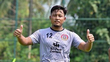 Jeje during a training session with East Bengal in Goa ahead of ISL 2020.