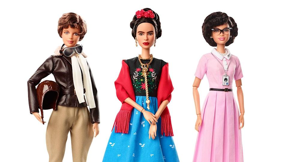 Barbie's newest Inspiring Women collection includes Frida Kahlo, but her doll doesn't have nearly as much of the iconic unibrow and facial hair that Kahlo famously did.