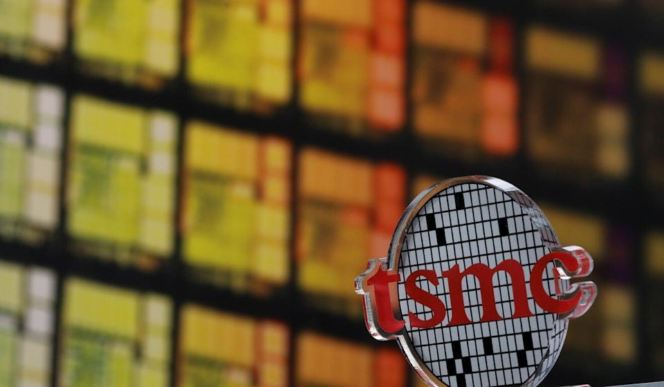 The logo of Taiwan Semiconductor Manufacturing Co (TSMC) is seen at its headquarters in Hsinchu, Taiwan. Photo: Reuters