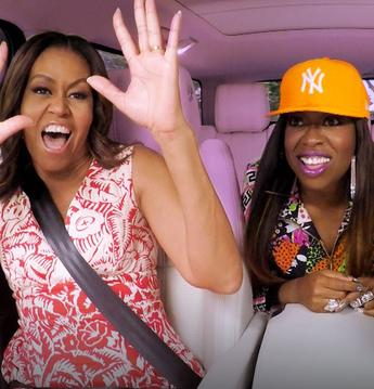 Michelle Obama rocks out with a special guest on 'Carpool Karaoke'