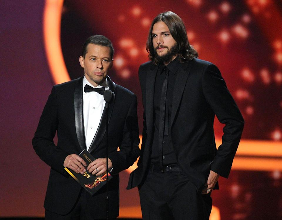 <p>Ashton Kutcher replaced Charlie Sheen on the hit television show, <em>Two and a Half Men, </em>in 2011 and as a result we saw the actor shaggier than ever. He grew out his hair and a beard for the role of Walden Schmidt.</p>