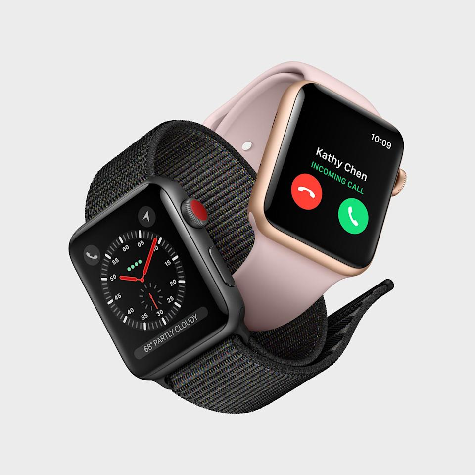 The Apple Watch Series 3 with GPS + cellular starts at $399.