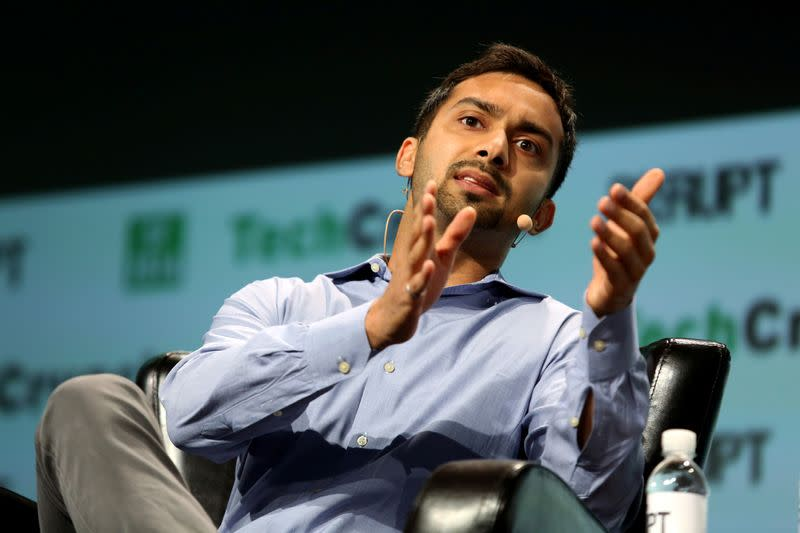 FILE PHOTO: Apoorva Mehta of Instacart speaks during 2016 TechCrunch Disrupt in San Francisco