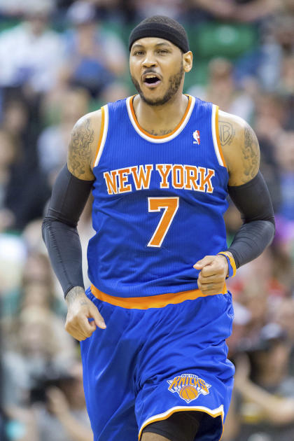 Carmelo Anthony averaged 27.4 points and 8.1 rebounds last season. (USA Today)