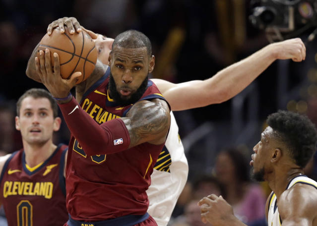 LeBron James is carrying the Cavs, but it isn't paying off. (AP)