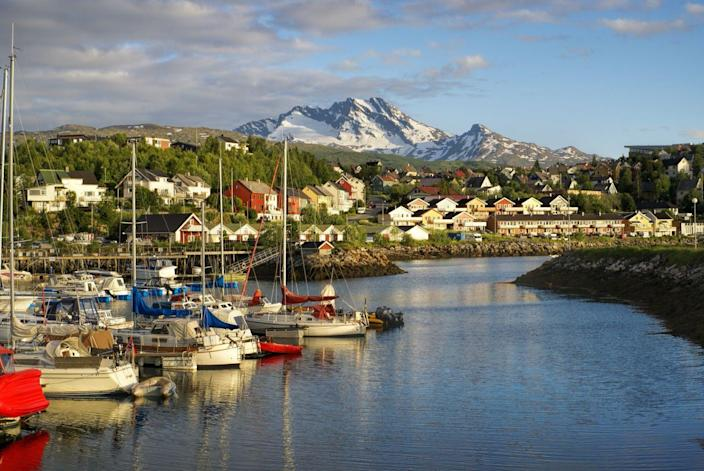 11) Narvik, with its houses and port