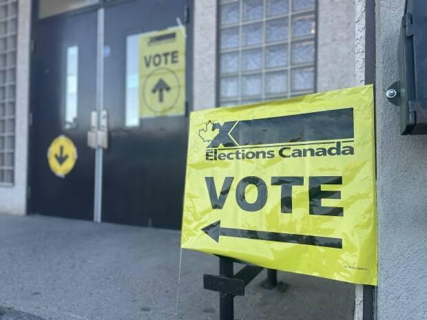 Voters started casting ballots at the Regina-Lewvan polling station early this morning in the 2021 federal election. (Jessie Anton/CBC - image credit)