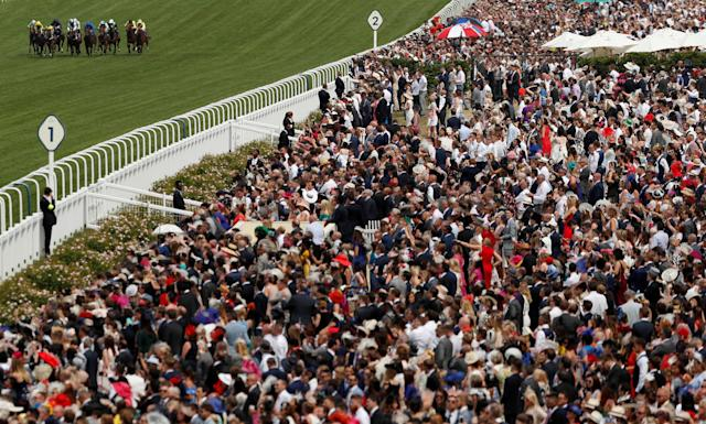 Horse Racing - Royal Ascot - Ascot Racecourse, Ascot, Britain - June 23, 2018 General view of racegoers watching the 2.30 Chesham Stakes Action Images via Reuters/Andrew Boyers TPX IMAGES OF THE DAY