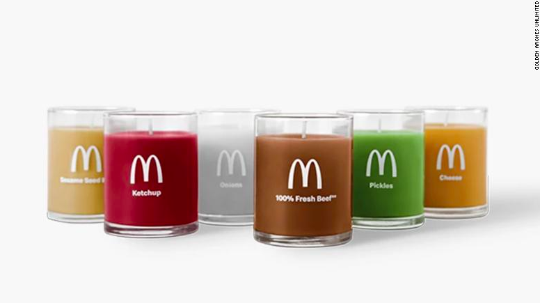 The candles come in six different scents (Golden Arches Unlimited)