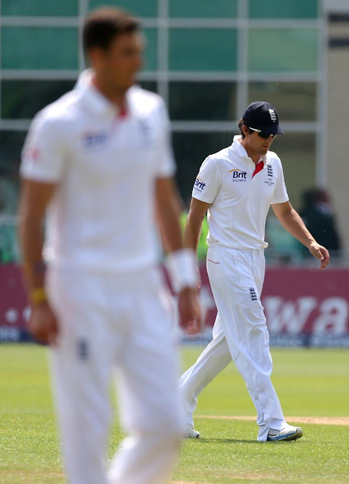 England's Alastair Cook looks dejected during day five of the First Investec Ashes Test match at Trent Bridge, Nottingham.