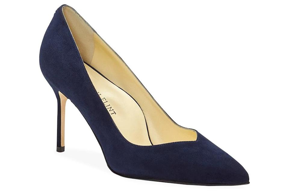navy pumps, pumps, heels, sarah flint