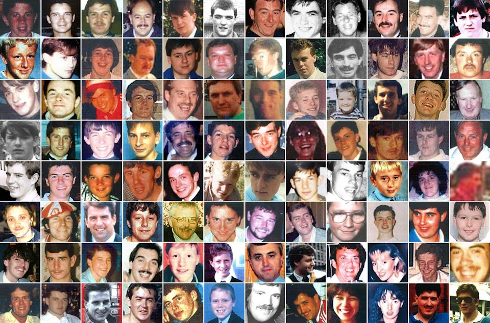 The 96 other victims of the Hillsborough disaster (Hillsborough Inquests/PA) (PA Media)