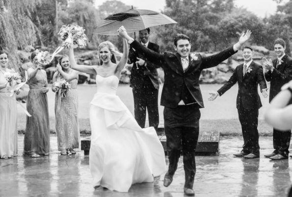 &quot;What do you do when a&amp;nbsp;sudden downpour happens in the middle of your ceremony? You own it! It was stunning and SO memorable! &quot; --&amp;nbsp;<i>Sarah Libby</i>
