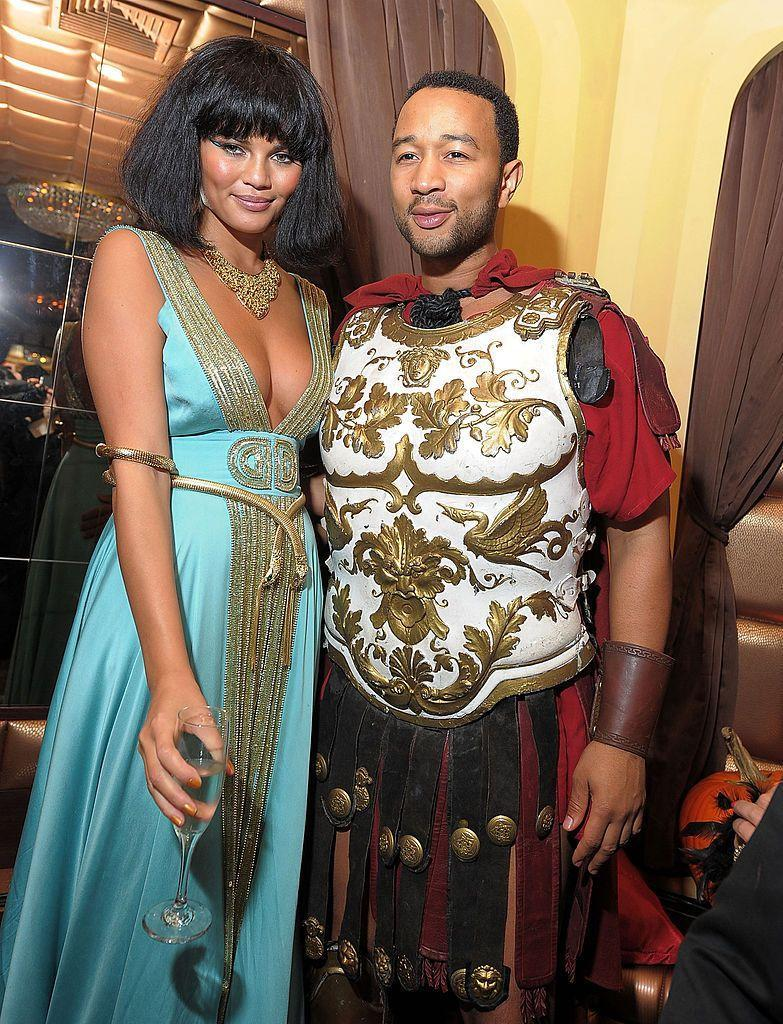 <p>The power couple's 2010 costumes are inspired by Cleopatra and Mark Antony.</p>