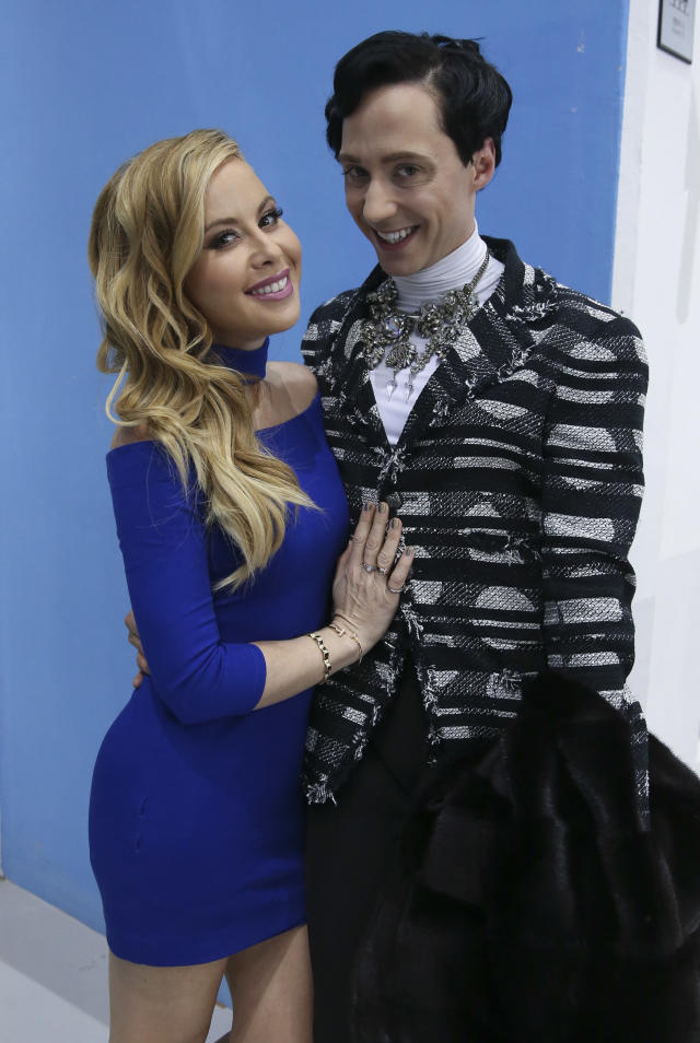 <p>Tara Lipinski and Johnny Weir pose after the Pair Short Program figure skating event during the 2018 Winter Olympic Games on Feb. 14, 2018 in South Korea. (Photo by Jean Catuffe/Getty Images) </p>