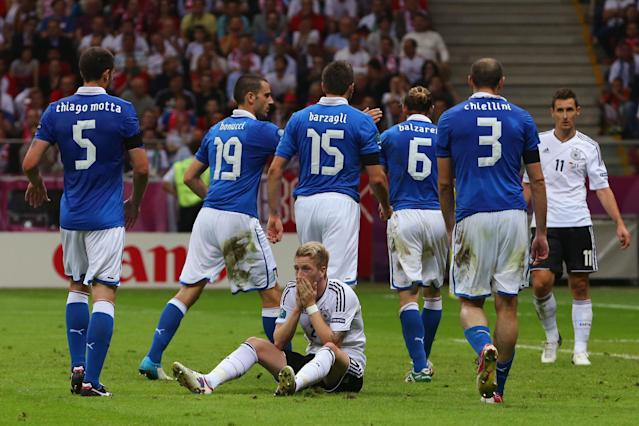 WARSAW, POLAND - JUNE 28: Marco Reus of Germany reacts after a missed opportunity in front of goal during the UEFA EURO 2012 semi final match between Germany and Italy at National Stadium on June 28, 2012 in Warsaw, Poland. (Photo by Alex Grimm/Getty Images)