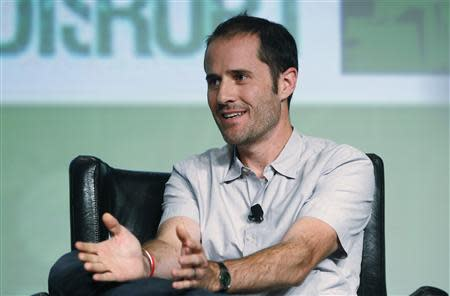 Twitter co-founder Williams speaks on stage during TechCrunch Disrupt SF 2012 in San Francisco
