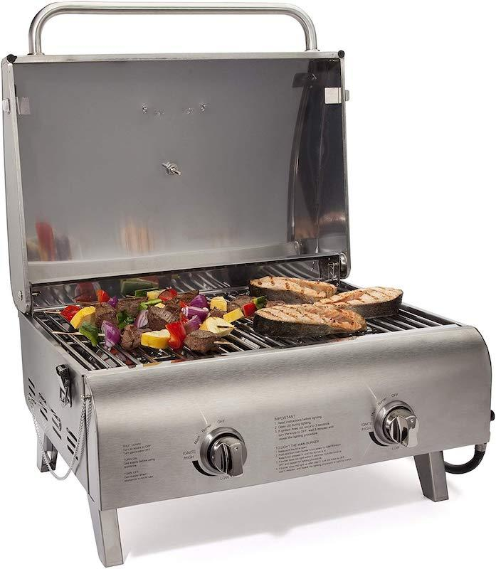 This stainless steel grill has the power of a full-sized model but is totally affordable. (Photo: Amazon)