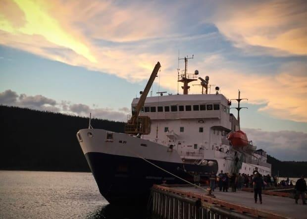 The company that provides services to the Northern Ranger ferry is suing the company that owns it. (John Gaudi/CBC - image credit)