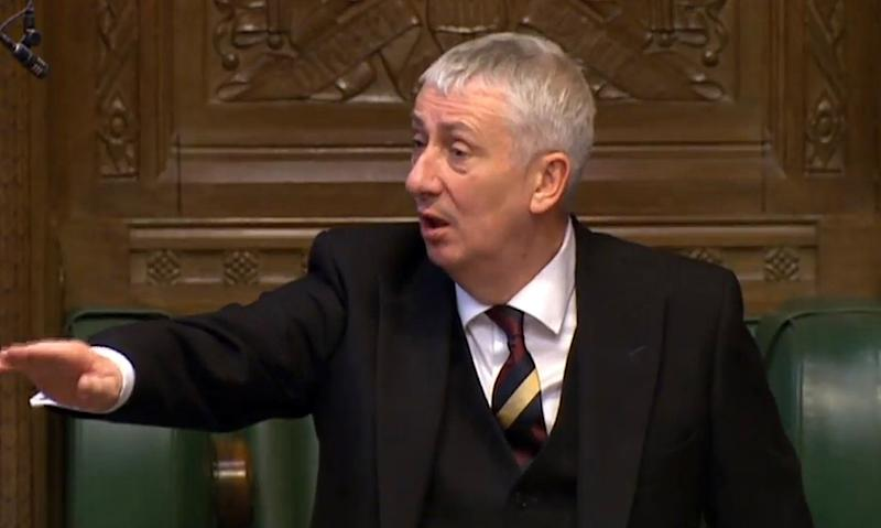 New speaker: Lindsay Hoyle, the Deputy Speaker of the House of Commons, gestures as Chancellor of the Exchequer George Osborne delivers his Budget statement to the House of Commons in 2016.